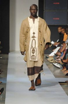 Pulse's male face of Trinidad, Kenwyn Millington, wears Avark from Barbados. Photograph courtesy Pulse