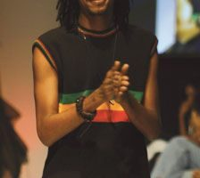 Kevin Ayoung-Julien on the runway. Photograph courtesy Pulse Investments Ltd
