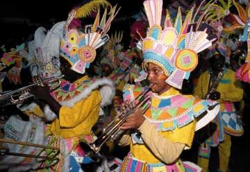 Junkanoo bands incorporate music and dance performances. Photograph courtesy the Bahamas Ministry of Tourism