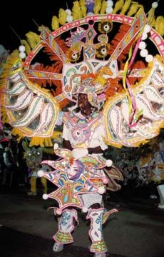 To qualify for the official competition, each Junkanoo costume must be carried by a single person. Photograph courtesy the Bahamas Ministry of Tourism