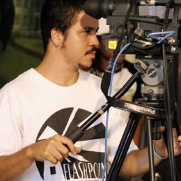 Storm Saulter behind the camera on the Better Mus Come set. Photograph courtesy Firefly Films