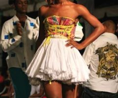One of Robert Young's creations from his design label, The Cloth, at Guyana Fashion Week. Photograph courtesy Guyana Fashion Week/Donn Thompson
