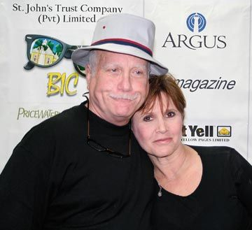 Actors Richard Dreyfuss and Carrie Fisher at Bermuda International Film Festival 2008. Photograph courtesy Biff/Charles Anderson