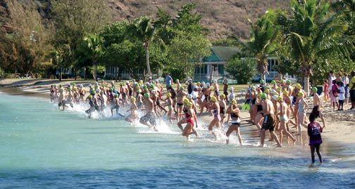 Splash out in St Kitts & Nevis. Photograph courtesy SKN Triathlon Federation