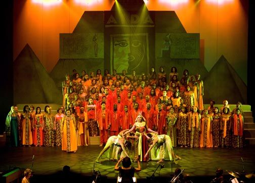 The Marionettes performing Aida at Queen's Hall in Trinidad. Photograph courtesy Russel 'Butch' Limchoy