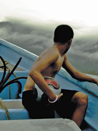 A still from The Little Boy and the Ball (Damian Marcano, Trinidad & Tobago/USA, 2011). Photograph courtesy T& T Film Festival