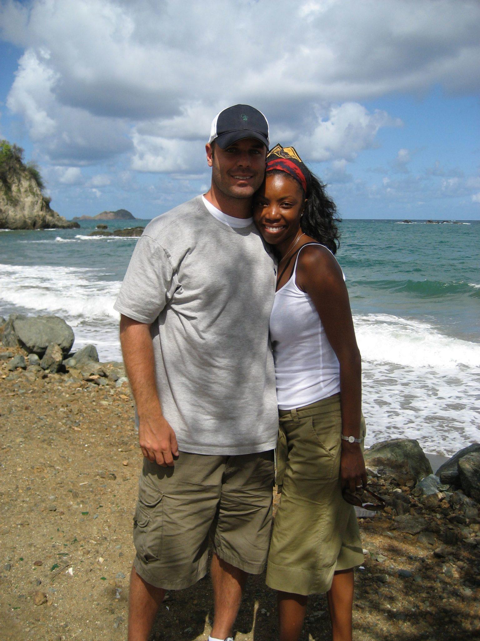 Headley and husband Brian in Tobago. Photograph courtesy Heather Headley