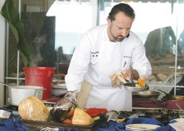 Chef Bruce Sherman of North Pond Café Restaurant, Chicago, at the 2006 Cayman Culinary Classic. Photograph courtesy Cayman Islands Department Of Tourism