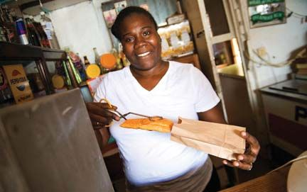 Beef, vegetable or chicken patties are a very popular Jamaican snack. Photograph by Paul Marshall