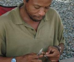 Dean Walcott as he works on his craft. Photograph by Tracy Assing