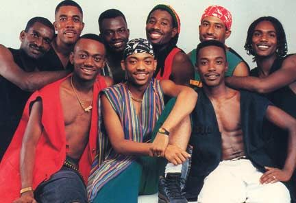 Machel and Xtatik in 1989. Photograph courtesy Machel Montano