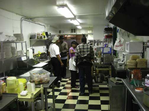 Inside Pam`s Kitchen. Photograph courtesy Anjuli Jacob