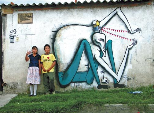 Mural in Mexico City. Photograph courtesy Wendell McShine