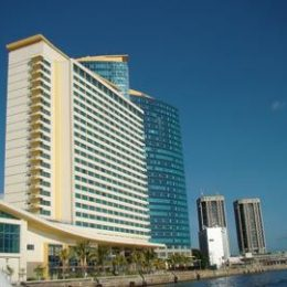 Waterfront view of the Hyatt Regency hotel, Trinidad, where two major international conferences are scheduled to be held. Photograph by Edison Boodoosingh