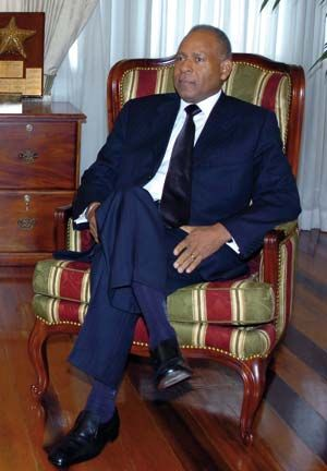 Trinidad and Tobago`s Prime Minister Patrick Manning. Photograph by Iossjr