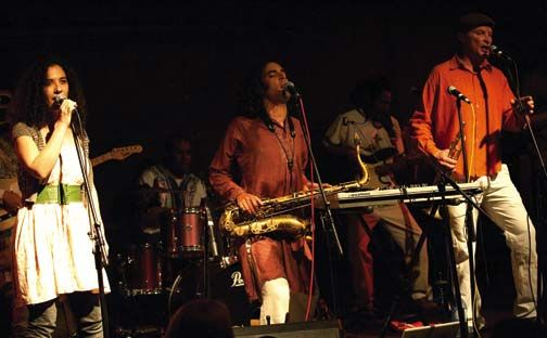 The Red Earth Collective live in Brixton, London. Photograph courtesy Jerry Young