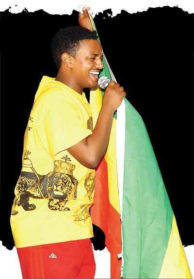 Pop singer Teddy Afro. Photograph courtesy M Productions