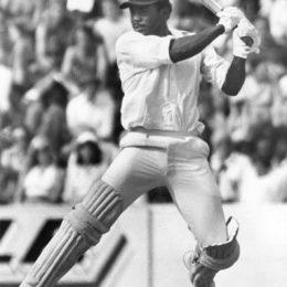 Gordon Greenidge in fine batting style. Photograph by Ken Kelly