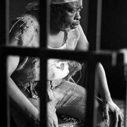 Errol Jones as Makak in the Trinidad Theatre Workshop production of Derek Walcott's Dream on Monkey Mountain. Photograph by Mark Lyndersay