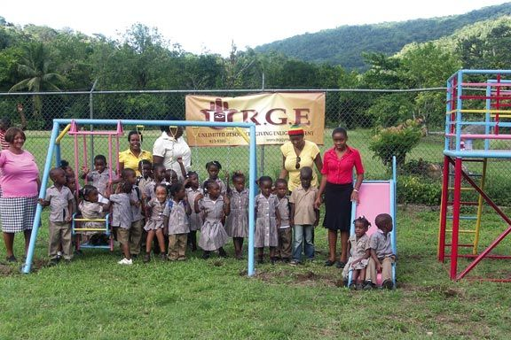 Jamaica's Chepstowe Elementary School was supplied with new playground equipment by URGE, Ziggy Marley's charity. Photograph courtesy Tuff Gong Worldwide