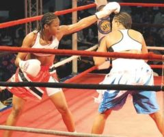 Jizelle Salandy defends her three world titles against Yahaira Hernandez on Boxing Day in Trinidad. Photograph courtesy Trinidad Express