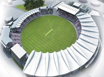 Artist's impression of the Kensington Oval, Barbados. Photograph courtesy Barbados Local Organising Committee