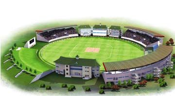 Artist's impression of Providence Stadium. Photograph courtesy the Guyana Local Organising Committee
