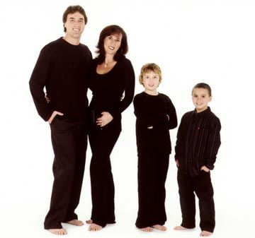 Stephen Ames with his wife Jodi and their sons Justin and Ryan. Photograph courtesy Marilyn Ames