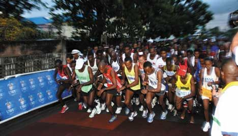 The 6 am start of the third UWI SPEC Half Marathon held in 2006. Photograph courtesy UWI Marketing and Communications Office