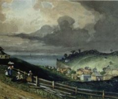 View of San Fernando, painted by Margaret Mann. Photograph courtesy National Museum and Art Gallery of Trinidad and Tobago