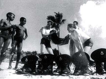 It wasn't all work for British invading troops. Photograph courtesy Heritage Museum of Anguilla