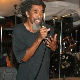 Hippolyte performs at the Emancipation Day celebrations in Laborie, St Lucia, 2004. Photograph courtesy Kendel Hippolyte/Augustin Barthelmy