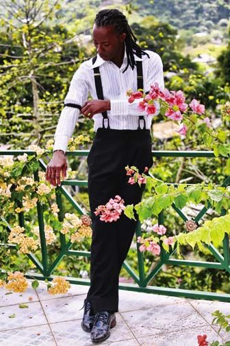 Model Dion Baptiste in an outfit from Millhouse Clothing`s Southern Comfort holiday collection. Photograph courtesy Kerron Rile