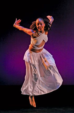 Ritual (1995), danced by Natassia Parson, Patrick's daughter. Photograph by David Hou