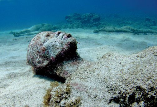 Part of Grace Reef, a group of 16 figures based on one woman. Photograph courtesy Jason de Caires Taylor & the Grenada Board of Tourism
