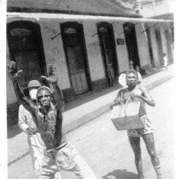 Jab Molassie (molasses devil), 1933. Photograph by Howard Nankivell, courtesy of Edmund Nankivell