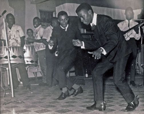Earl Rodney and Tropical Harmony in Penthouse nightclub. Photograph by Julia Edwards