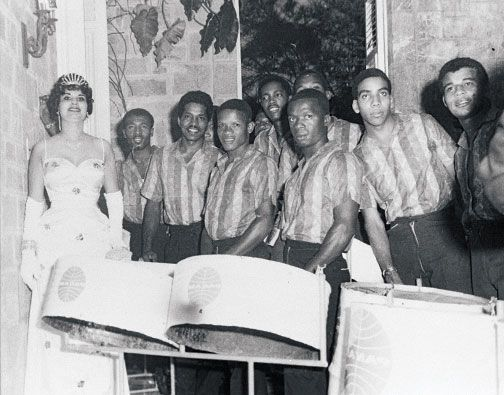 Gene Miles and North Stars Steel Orchestra at Government House, Independence Ball, August 31, 1961. Photograph by Government Information Services