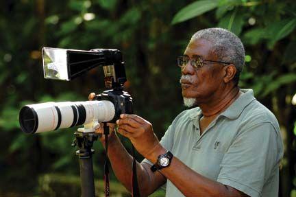 Theodore Ferguson at work. Photograph courtesy Theodore Ferguson