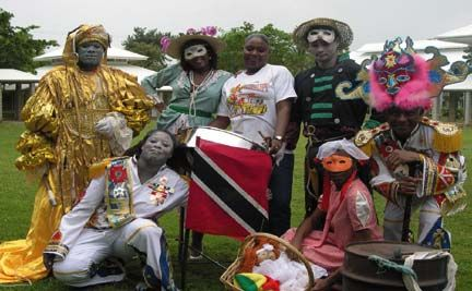 Members of Arts-in-Action portraying traditional Carnival characters. Photograph courtesy Arts-in-Action