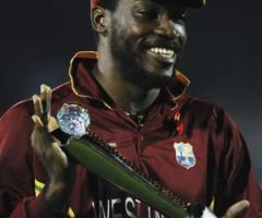 Chris Gayle, ICC Champions Trophy Final 2006. Photograph by Clive Mason/Getty Images