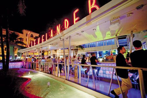 The open-air bar of the Clevelander, a favourite with Caribbean visitors. Photograph by Mark Lyndersay