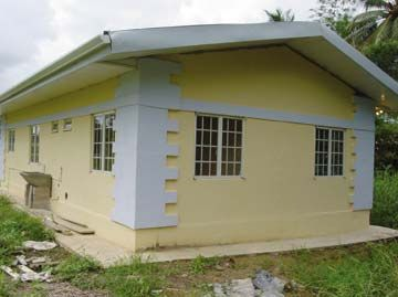 The house that the Young Leaders built. Photograph courtesy St Joseph's Convent, Port of Spain