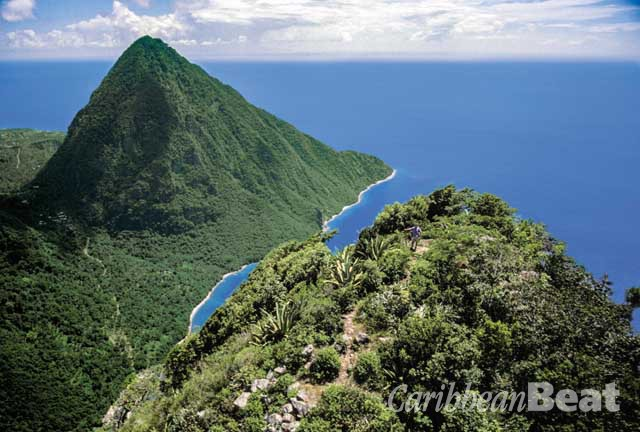 Gros Piton from the summit of Petit Piton. Photograph by Chris Huxley