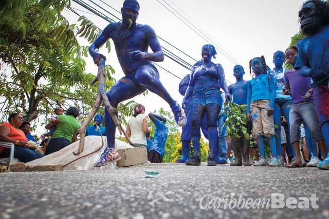 Blue Devils in the village of Paramin. Photography by Maria Nunes