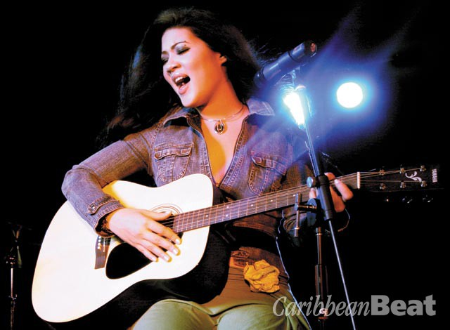 Tessanne Chin in 2006, when Caribbean Beat singled her out as a talent to watch. Photograph by courtesy Gary James
