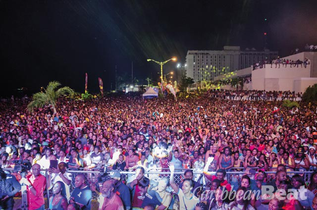"The massive crowd at Chin's ""Homecoming"" concert in Kingston. Photograph by Adrian Creary"