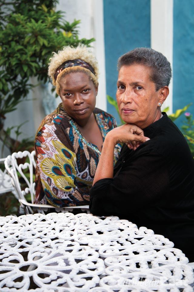 Rhoda Bharath and Barbara Jenkins. Photograph by Mark Lyndersay