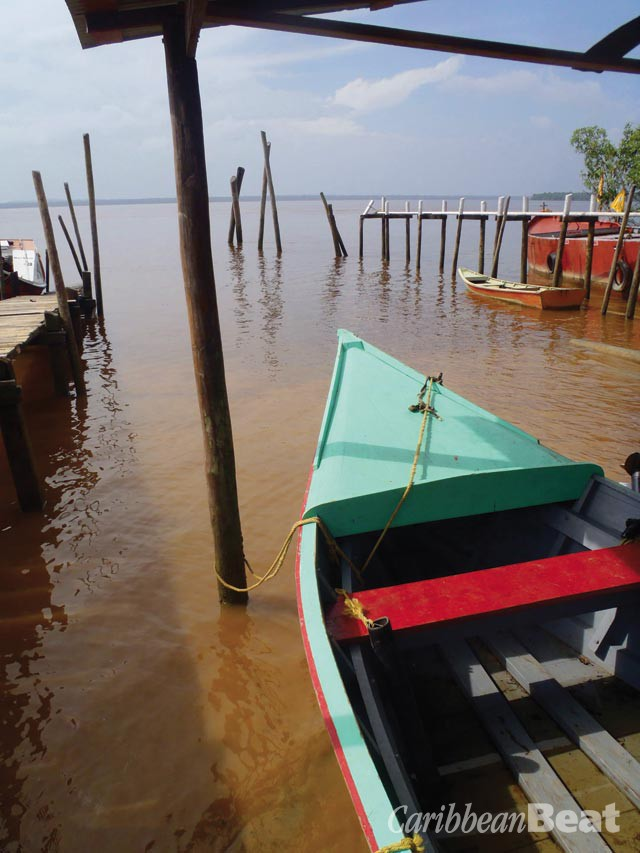With no bridge crossing the Essequibo, communities on either side of the river are connected by ferries and a host of small boats. Photograph by Mark Khan