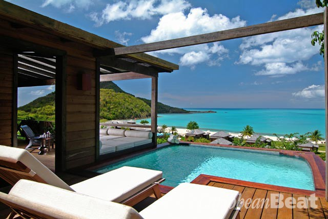 The sublime view from the suites at Hermitage Bay. Photograph courtesy Hermitage Bay